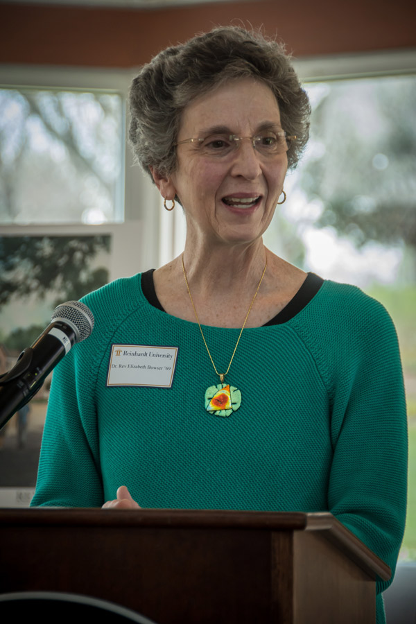 Dr. Beth Bowser was honored March 25 as Reinhardt University's Distinguished Alumna of the Year.