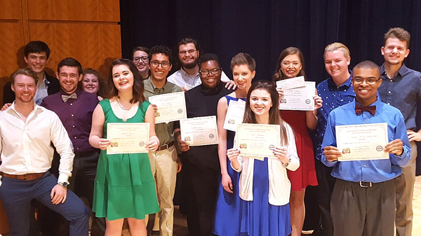 Reinhardt music students to represent university at nationals.