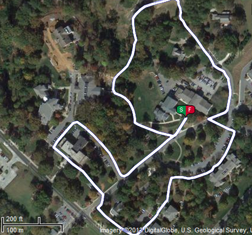One mile walking or jogging Trail