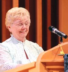 Marguerite Thigpen Cline '58 is Reinhardt's 2014 Distinguished Alumna of the Year.
