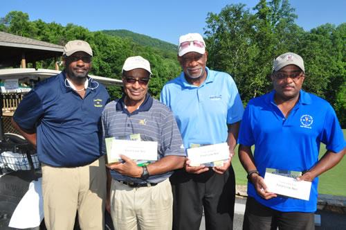 1st low net Team – E R Mitchell, Royce Jones, Eric Thomas and David Walters.