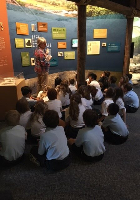 Students learn about Life Along the Etowah